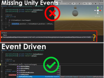 Missing Unity Events